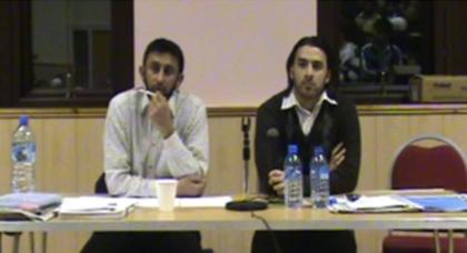 Majed and panelist Ali Khan