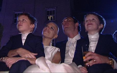 Jade Goody and family staring ahead of events