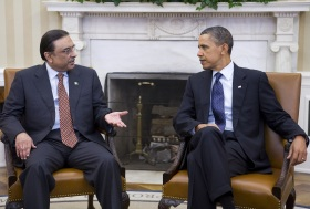 President Obama meets with Pakistani President Zardari in Washington