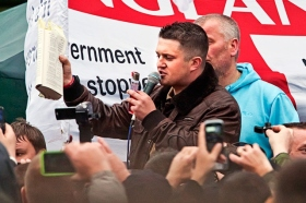 Tommy Robinson at Rochdale Rally