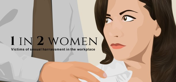 1 in 2 women have been sexually harrassed in the work place.